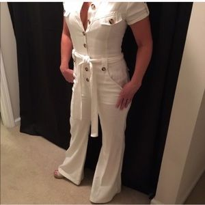 Bebe white jumpsuit jumper